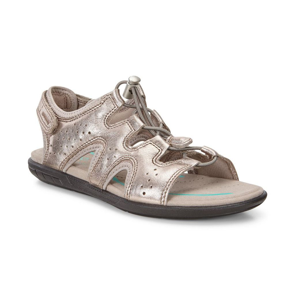 68eed8f6f5af Womens ECCO Bluma Toggle Sandals Shoes Grey   Metallic Size ( US  4 4.5-12 12.5 ) 789JFINK