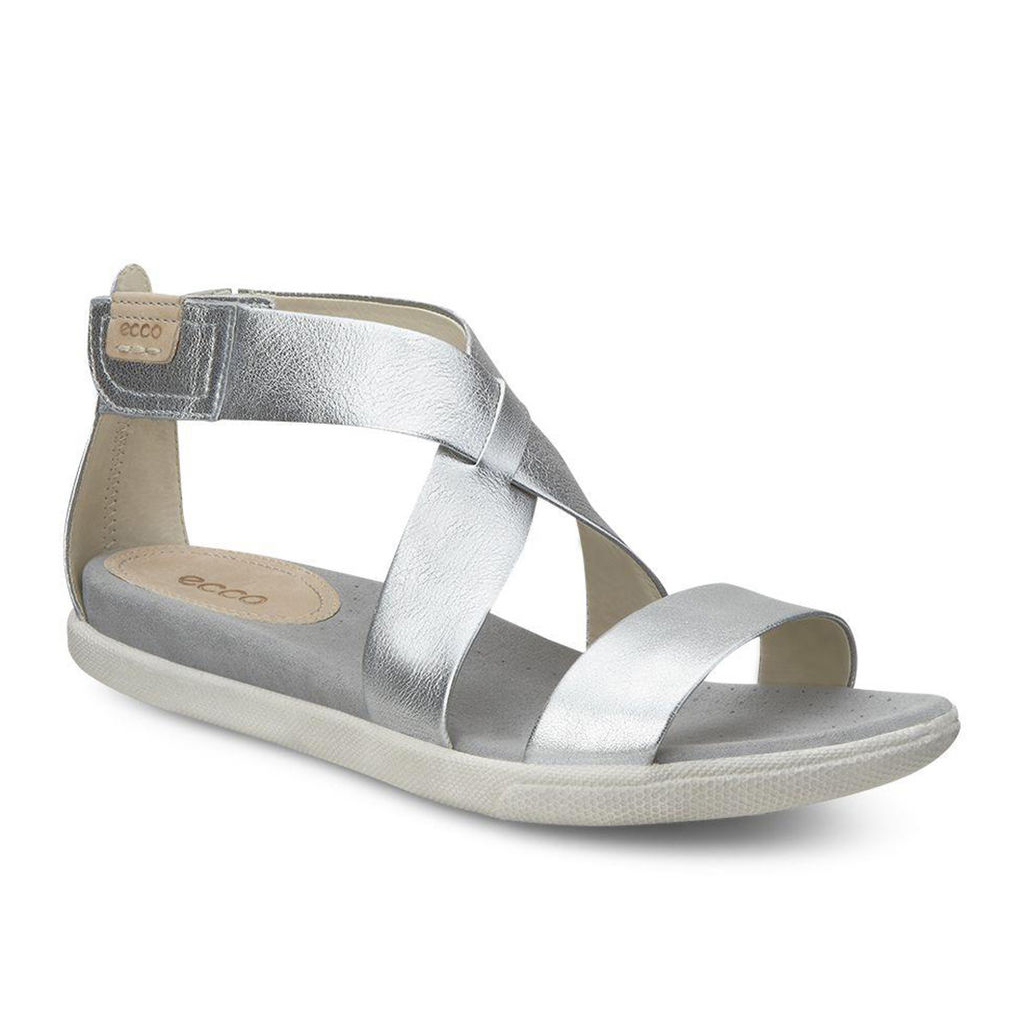 b5dfb2d8692b Womens ECCO Damara Strap Sandals Shoes Silver Size ( US 4 4.5-12 12.5 )  887DKMFN