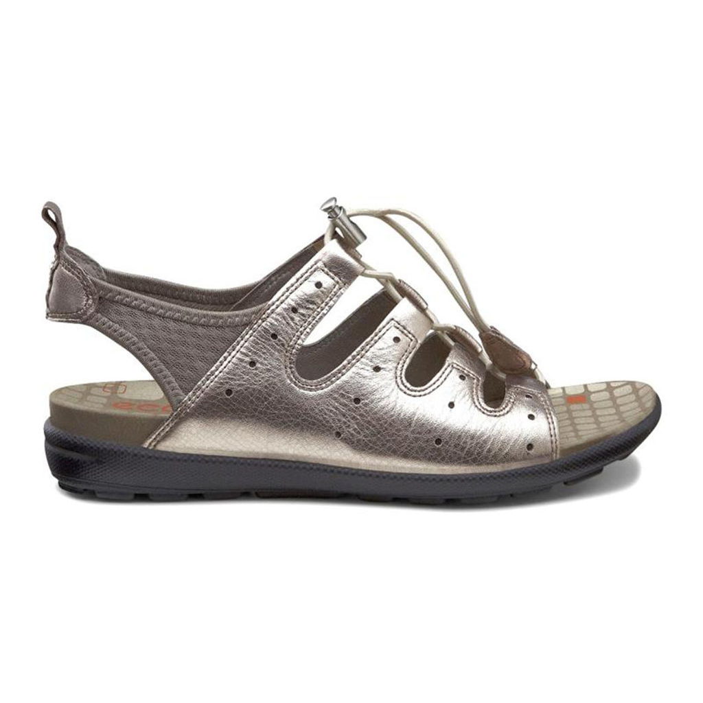 4e0b2be1ab15f3 Womens ECCO Jab Toggle Sandals Shoes Grey   Metallic   Grey Size ( US  4 4.5-12 12.5 ) 226AESQZ