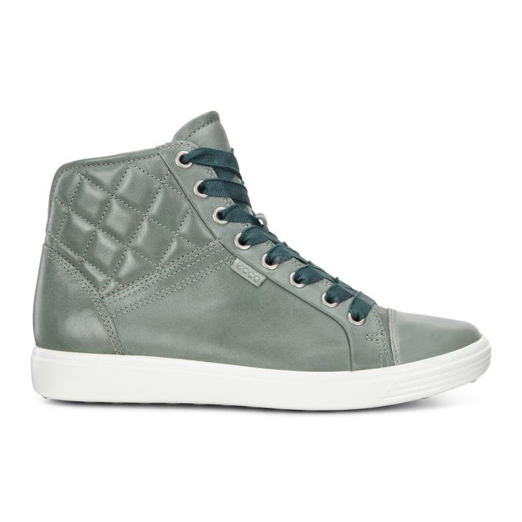 903bce64b4 Womens Cheapest ECCO Soft 7 Quilted High Top Online - Sneakers Shoes ...