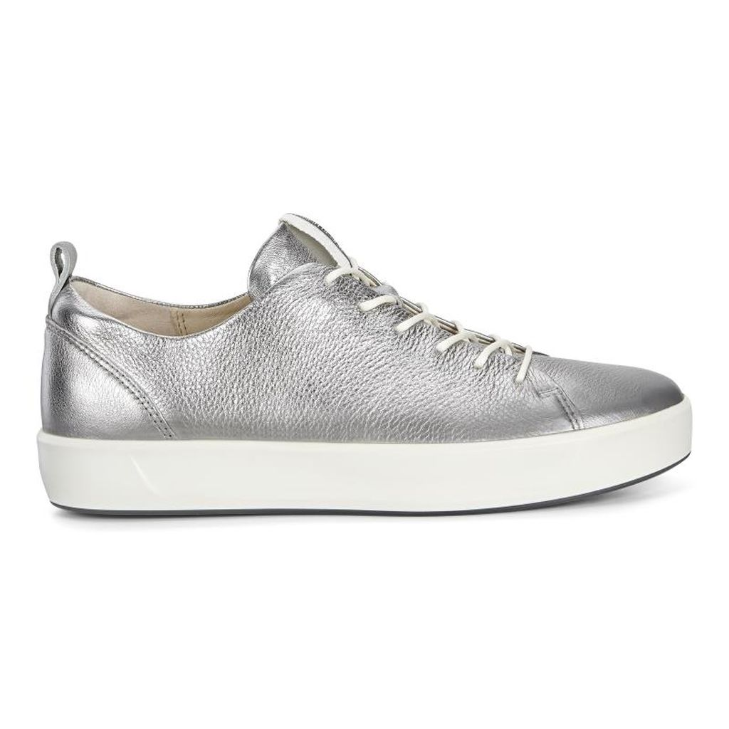 d265a985caf87 Womens ECCO Soft 8 Tie Sneakers Shoes Silver Size ( US 4/4.5-12/12.5 )  482LQWSG