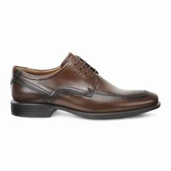 Mens ECCO Cairo Apron Toe Tie Dress Shoes Brown Size ( US 5/5.5-16/16.5 ) 917CAHBS