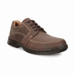 Mens ECCO Fusion II Tie Casual Shoes Brown Size ( US 5/5.5-16/16.5 ) 299FRXAI