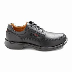 Mens ECCO Fusion Moc Toe Tie Casual Shoes Black Size ( US 5/5.5-16/16.5 ) 363PBGVZ