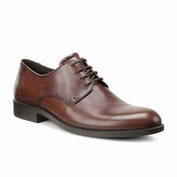 Mens ECCO Harold Plain Toe Tie Dress Shoes Brown Size ( US 5/5.5-16/16.5 ) 427FTOGK