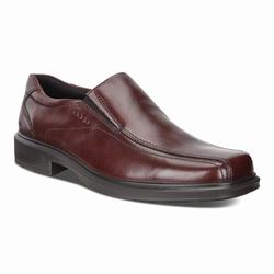 Mens ECCO Helsinki Bike Toe Slip On Dress Shoes Brown Size ( US 5/5.5-16/16.5 ) 433CWSZF
