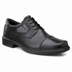 Mens ECCO Helsinki Cap Toe Tie Dress Shoes Black Size ( US 5/5.5-16/16.5 ) 729JUZBT