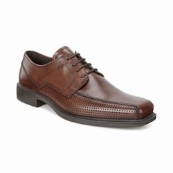 Mens ECCO Johannesburg Perf Tie Dress Shoes Brown Size ( US 5/5.5-16/16.5 ) 522CNEXY