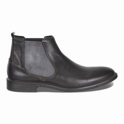 Mens ECCO Knoxville Chelsea Boots Black Size ( US 5/5.5-16/16.5 ) 352IMSEL