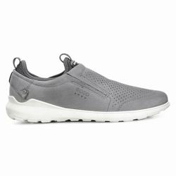 Mens ECCO Transit Slip On Casual Shoes Dark Grey Size ( US 5/5.5-16/16.5 ) 111LBGHT