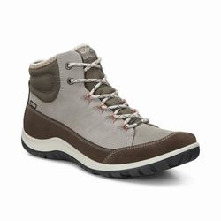 Womens ECCO Aspina GTX High Winter Boots Grey Size ( US 4/4.5-12/12.5 ) 520WQAKH