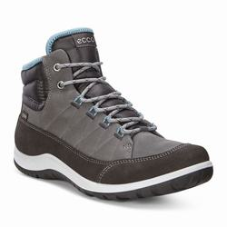 Womens ECCO Aspina GTX High Winter Boots Grey Size ( US 4/4.5-12/12.5 ) 474XCLZS