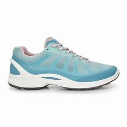Womens ECCO BIOM Fjuel Racer Sneakers Shoes Rose / Light Turquoise Size ( US 4/4.5-12/12.5 ) 661DPFN