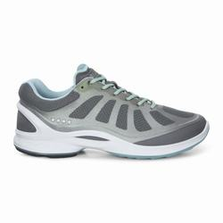 Womens ECCO BIOM Fjuel Racer Sneakers Shoes Dark Grey / Light Turquoise / Grey Size ( US 4/4.5-12/12