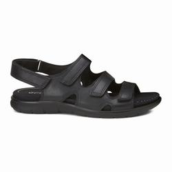Womens ECCO Babett 3 Strap Sandals Shoes Black Size ( US 4/4.5-12/12.5 ) 706PMFOJ