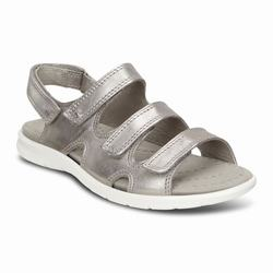 Womens ECCO Babett 3 Strap Sandals Shoes Metallic Silver Size ( US 4/4.5-12/12.5 ) 403MPWCR