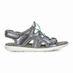 Womens ECCO Bluma Toggle Sandals Shoes Dark Grey / Metallic Size ( US 4/4.5-12/12.5 ) 350HUFMX