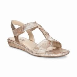 Womens ECCO Bouillon 3.0 Sandals Shoes Gold Size ( US 4/4.5-12/12.5 ) 621XDOFM