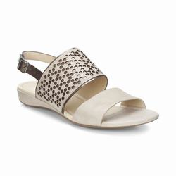 Womens ECCO Bouillon II Sandals Shoes Gold Size ( US 4/4.5-12/12.5 ) 563PUVLY
