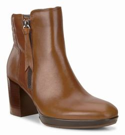 Womens ECCO Shape 55 Chalet Mid Ankle Boots Brown Size ( US 4/4.5-12/12.5 ) 610YQCRV