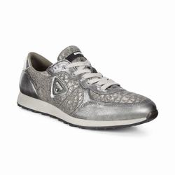 Womens ECCO Sneak Sneakers Shoes Silver / Grey Size ( US 4/4.5-12/12.5 ) 779EBGIC