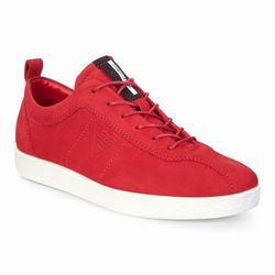 Womens ECCO Soft 1 Sneakers Shoes Red Size ( US 4/4.5-12/12.5 ) 488FDBIA