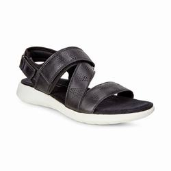 Womens ECCO Soft 5 Cross Strap Sandals Shoes Black Size ( US 4/4.5-12/12.5 ) 631FOKXZ