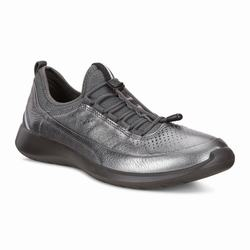Womens ECCO Soft 5 Toggle Sneakers Shoes Dark Grey Size ( US 4/4.5-12/12.5 ) 399YXTPB