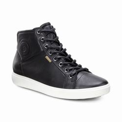 Womens ECCO Soft 7 High Top Sneakers Shoes Black Size ( US 4/4.5-12/12.5 ) 952UXLKP