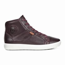 Womens ECCO Soft 7 High Top Sneakers Shoes Burgundy Size ( US 4/4.5-12/12.5 ) 530MYTXD