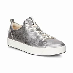 Womens ECCO Soft 8 Tie Sneakers Shoes Silver Size ( US 4/4.5-12/12.5 ) 482LQWSG