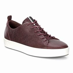 Womens ECCO Soft 8 Tie Sneakers Shoes Burgundy Size ( US 4/4.5-12/12.5 ) 190OREDV