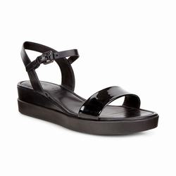 Womens ECCO Touch Plateau Sandals Shoes Black Size ( US 4/4.5-12/12.5 ) 967HKJRT