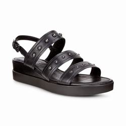 Womens ECCO Touch Strap Plateau Sandals Shoes Black Size ( US 4/4.5-12/12.5 ) 273HTWSY